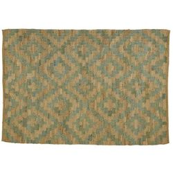 Dywan RILAS – 100% konopi ręcznie igłowanej – 160 × 230 cm – Kolor naturalny