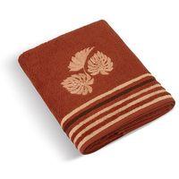 Ręczniki, Bellatex Ręcznik kąpielowy Monstera pomarańczowy, 70 x 140 cm, 70 x 140 cm