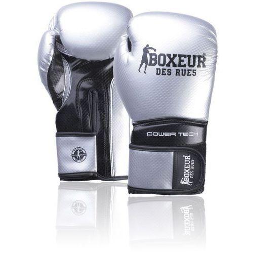 Rękawice do walki, Rękawice bokserskie BOXEUR BXT-5195 Srebrno-czarny (10 oz)