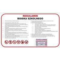 Oznakowanie informacyjne i ostrzegawcze, REGULAMIN BOISKA SZKOLNEGO - DUŻY - PCV 30X50