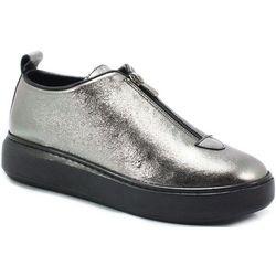 VENEZIA 02261200019Y SREBRNE - Sneakersy, skóra Weekend zniżek listopad 2019 - 20% (-30%)