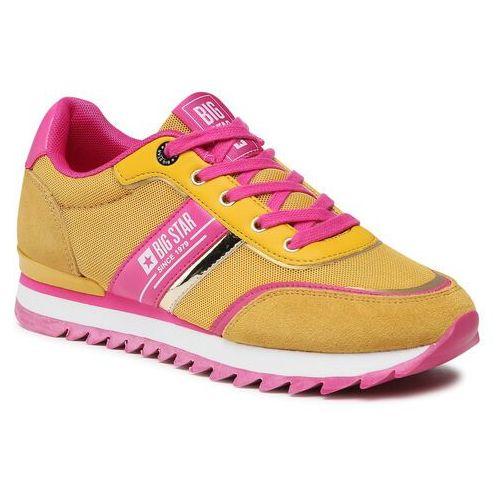 Damskie obuwie sportowe, Sneakersy BIG STAR - HH274273 Yellow