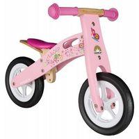 """Rowerki biegowe, Rowerek biegowy dwukołowy Bike Star 10"""" drewniana rama różowy"""