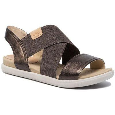 Sandały ECCO Damara Sandal 24822350533 LicoricePowder, kolor brązowy