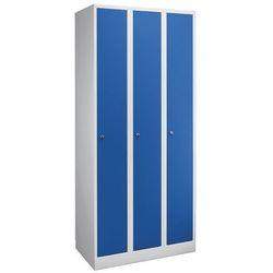 Szafa na garderobę w komfortowym rozmiarze,3 przedziały, szer. przedziału 300 mm