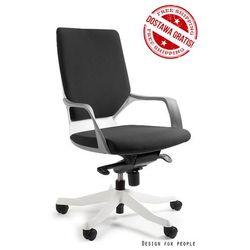 Fotel Unique Apollo M - biało/czarny, 18 KOLORÓW, Negocjuj cenę!