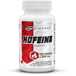 GYMFOOD Kofeina w tabletkach 100 tabletek /200 mg