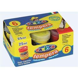 Farby Tempera 6 kolorów x 25ml CARIOCA