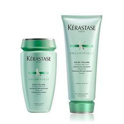 Kerastase Volumifique Zestaw nadający objętość   szampon 250ml + mleczko 200ml