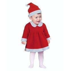 """Strój """"Mała Mikołajka"""", Śnieżynka dla dzieci 6-12 miesięcy"""