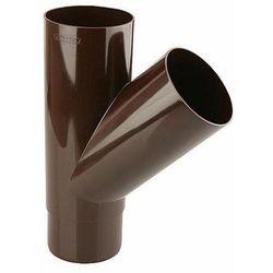 Trójnik rynnowy 45° Marley 105/105 mm brązowy