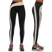 Pozostała odzież sportowa, Damskie legginsy sportowe BAS BLACK Flow, Czarny/kremowy, L