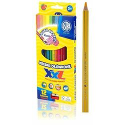 Kredki Astra Ołówkowe Hexagonalne 12 Kolorów Grafit 4Mm