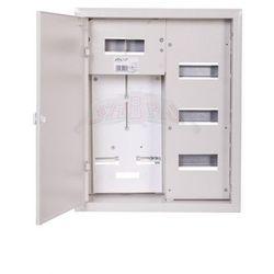 Szafka licznikowa podtynkowa 1-licznikowa 3-fazowy 24 moduły IP31 400x500x210 Biała na zatrzask i z ramką RL 24 R