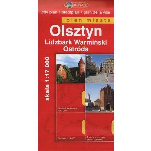 Mapy i atlasy turystyczne, OLSZTYN. LIDZBARK WARMIŃSKI. OSTRÓDA. PLAN MIASTA 1 : 18 000 (opr. broszurowa)