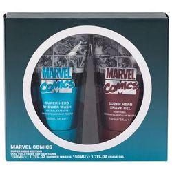 Marvel Comics Hero zestaw Żel pod prysznic 150 ml + Żel do golenia 150 ml dla mężczyzn