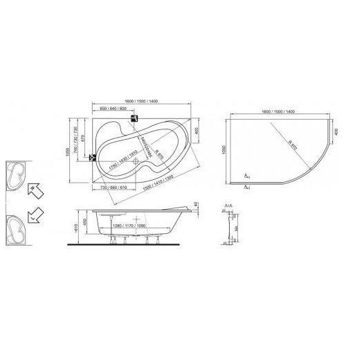 Wanny, Ravak Rosa 150 x 105 (CK01000000)