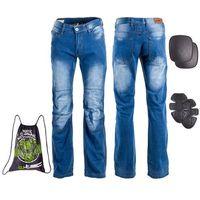 Spodnie motocyklowe męskie, Męskie jeansowe spodnie motocyklowe W-TEC Shiquet, Niebieski, XL