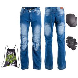Męskie jeansowe spodnie motocyklowe W-TEC Shiquet, Niebieski, XL