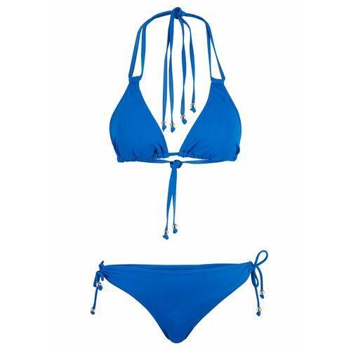 Stroje kąpielowe, Bikini z trójkątnymi miseczkami (2 części) bonprix niebieski