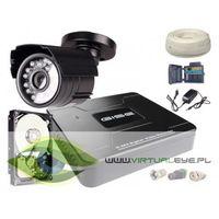 Zestawy monitoringowe, Zestaw AHD, 1x Kamera HD/IR20, Rejestrator 4ch + 500GB