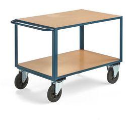 Wózek warsztatowy SEDAN, bez hamulców, 2 koła skrętne, 600 kg, 1100x700 mm