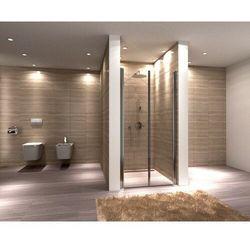WESTERN SPACE Drzwi wahadłowe 100x190, szkło transparentne + powłoka Easy Clean