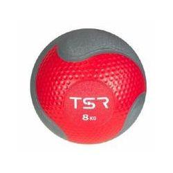 TSR Piłka lekarska kauczukowa- Wiśniowy, 8 kg - Wiśniowy \ 8 kg