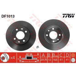 TARCZA HAM TRW DF1013 RENAULT CLIO II 1.5DCI 05-, 1.9D 00-01, MEGANE I 1.6I 96-99, 1.9D ECO 96-, THALIA 1.2 16V 02-