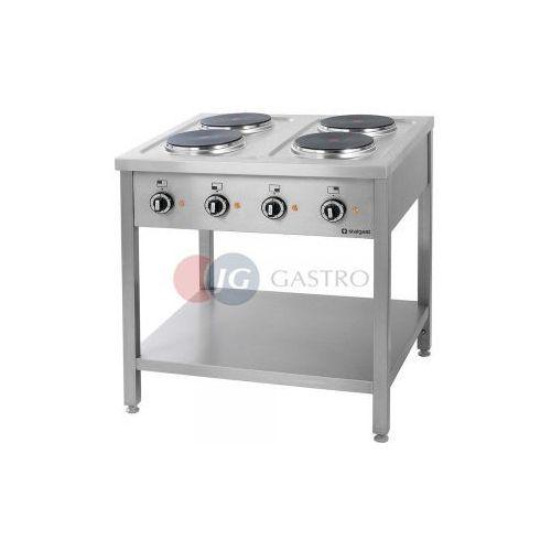 Piece i płyty grzejne gastronomiczne, Kuchnia elektryczna 4-płytowa z półką Stalgast 979500
