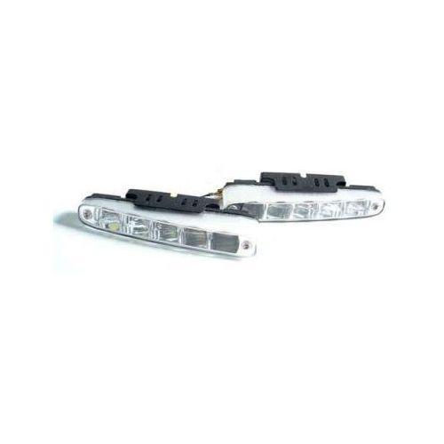 Lampy przednie, Profesjonalne Halogeny LED (Ścięte), do Jazdy Dziennej, 2x5 LED.