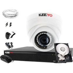 Monitoring zestaw wewnętrzny: Rejestrator LV-XVR44SE, 1x Kamera LV-AL1M2FDPWH, 500GB, akcesoria