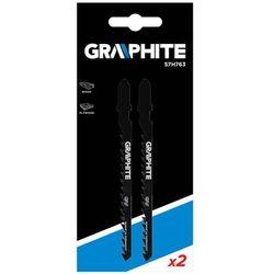 Brzeszczoty do wyrzynarki GRAPHITE 57H763 6TPI typu T (2 sztuki)