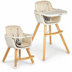 Fotelik, krzesełko do karmienia dla dzieci, ecotoys, 2w1, beżowe