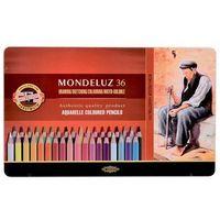 Kredki, Kredki akwarelowe Mondeluz w metalowej kasecie 36 kolorów