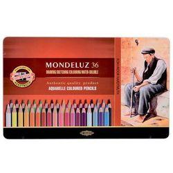 Kredki akwarelowe Mondeluz w metalowej kasecie 36 kolorów