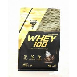 Trec Gold Core Whey 100 900 g Białko TRUSKAWKA
