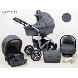 Sun Baby wózek Largo 3w1, grey flex - BEZPŁATNY ODBIÓR: WROCŁAW!