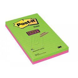 Karteczki samoprzylepne Post-it Super Sticky, w linię, 125x200, 5845