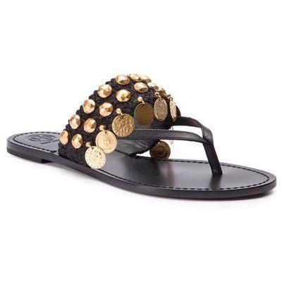 d794b60133db8 Japonki TORY BURCH - Patos Coin Thong Sandal 53692 Perfect Black/Perfect  Black 004