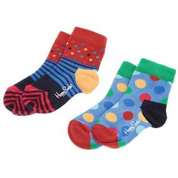 Zestaw 2 par wysokich skarpet dziecięcych HAPPY SOCKS - KBDO02-6004 Kolorowy
