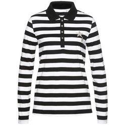 Shirt polo bonprix czarno-biały