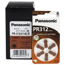 60 x baterie do aparatów słuchowych Panasonic 312 / PR312 / PR41