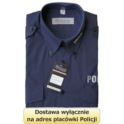 Koszula granatowa Policji z długim rękawem - nowy wzór