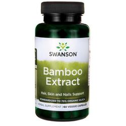 Ekstrakt z bambusa Krzem Bamboo Extract 300mg 60 kaps SWANSON