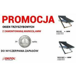 Okno dachowe OKPOL ISO I22 78x140 + Markiza zewnętrzna OKPOL AMW 78x140