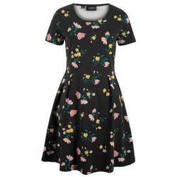 Sukienka z siatkową wstawką bonprix kobaltowy
