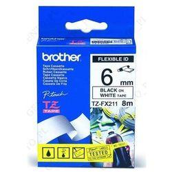 Brother etykiety, elastyczna TZFX211, TZFX-21, TZEFX211, TZEFX-211