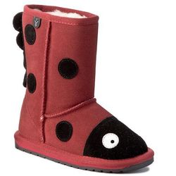 Buty EMU AUSTRALIA - Little Creatures Lady Bird K10111 Red/Rouge