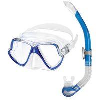 Maski, płetwy i fajki, Zestaw do nurkowania MARES Set Wahoo 11745 Niebieski + DARMOWY TRANSPORT!